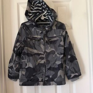 Used Oshkosh grey camo windbreaker